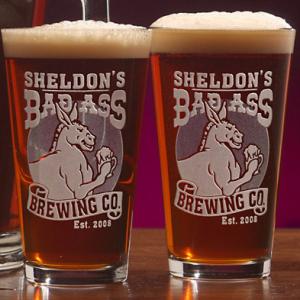Badass Bar Pint Glass