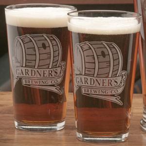 Barrel Brewing Company Pint Glass