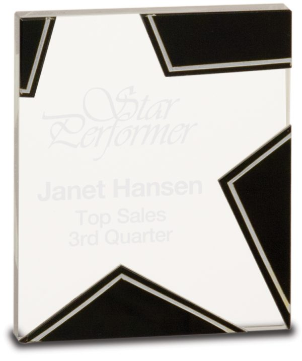 Black and Silver Glass Star Awards