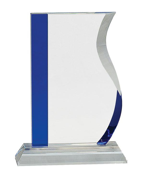 Blue Edge Engraved Crystal Awards