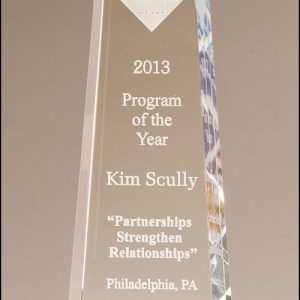 Personalized Classic Glass Obelisk Award