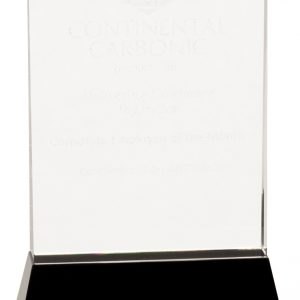 Clear Crystal Wedge Recognition Award