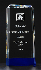 Crystal Blue Series Personalized Awards