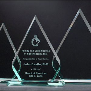 Diamond Series Etched Glass Awards