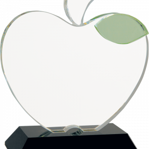 Etched Crystal Apple Award