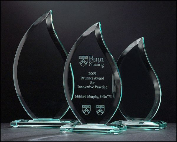 Flame Series Etched Glass Awards