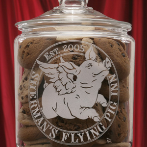 Flying Pig Theme Cookie Jar