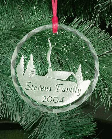 Personalized Winter Homestead Christmas Ornament