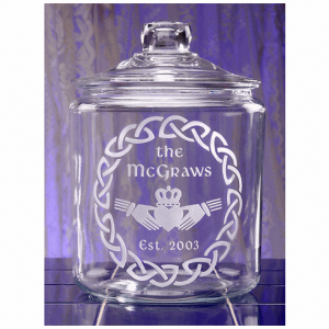 Irish Claddagh Cookie Jar