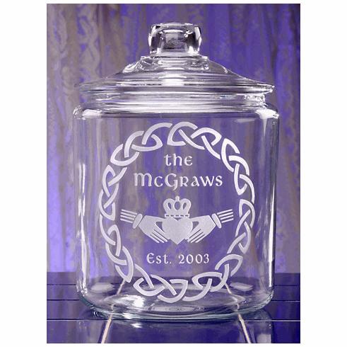 Irish Claddagh Cookie Jar