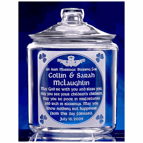 Personalized Irish Marriage Blessing Cookie Jar