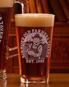 Old Farmer Pint Glass