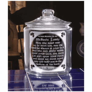 Personalized Old Irish Blessing Cookie Jar