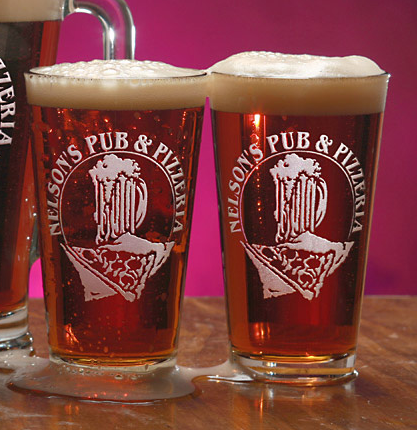 Olde Time Pizzeria Pint Glasses