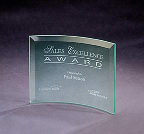 Personalized Beveled Crescent Award