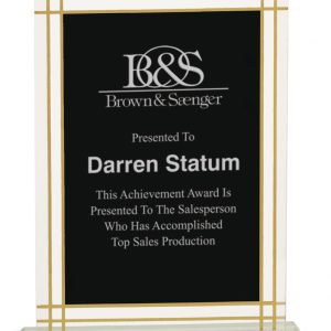 Personalized Contemporary Etched Glass Award
