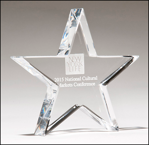 Personalized Crystal Star Paperweight
