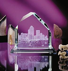 Personalized Dartmoor Peak Glass Award