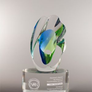 Personalized Etched Glass Breakthrough Award