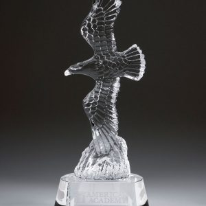Personalized Etched Glass Grand Eagle Award