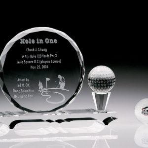 Personalized Etched Golf Ball Award