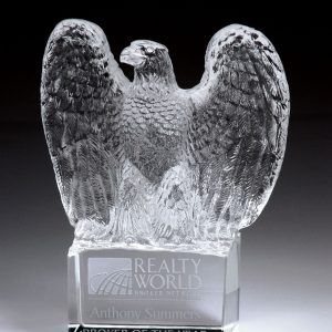 Personalized Magnum Eagle Glass Award