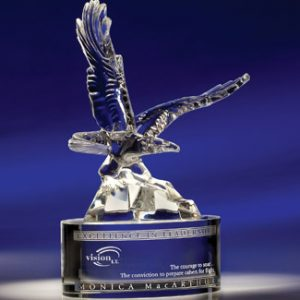 Personalized Soaring Eagle Glass Award