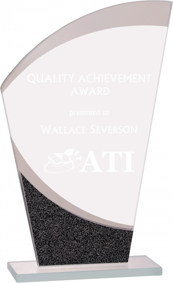 Personalized Wave Glass Tower Award