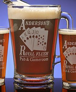 Poker Theme Pint Glass