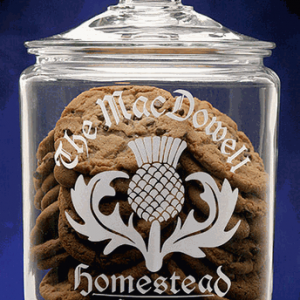 Scottish Thistle Cookie Jar