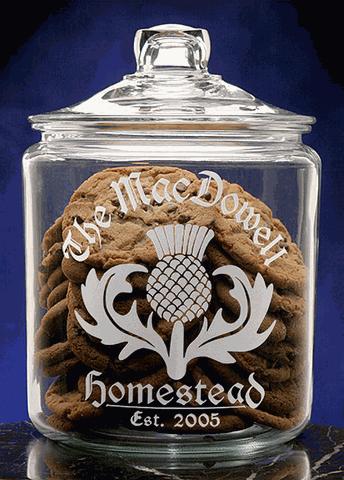 Scottish Thistle Cookie Jar