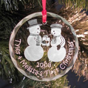Snow Couple Christmas Tree Ornament