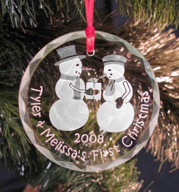 Snow Couple Christmas Tree Ornament