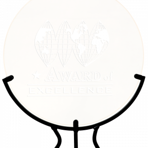 Personalized Round Vintage Glass Awards