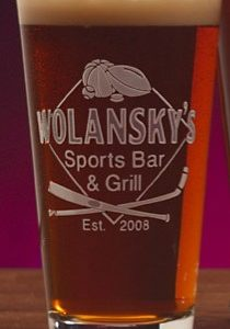 Sports Bar Pint Glass